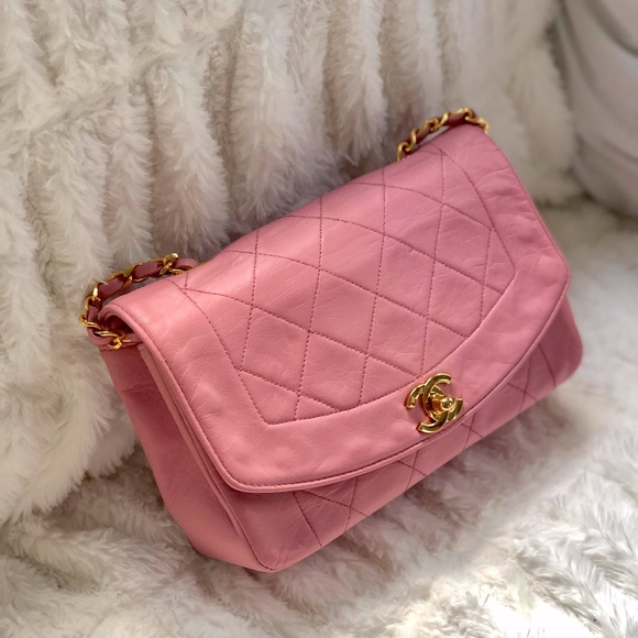 a6ca42877b4127 CHANEL Handbags - RARE 2.55 Reissue Pink Diana Quilted Lambskin Bag